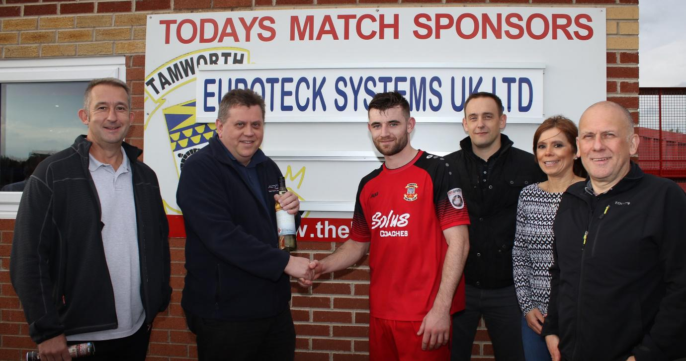 Euroteck Systems UK Ltd Sponsors Tamworth FC Match
