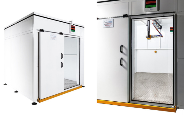 Euroteck recently delivered a mobile walk in X-Ray cabinet to one of the major aerospace component manufacturers.